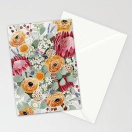 Fall Protea Bouquet Stationery Cards