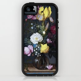 Ambrosius Bosschaert the Elder Bouquet of Flowers in a Glass Vase iPhone Case