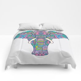 Elephant in Colors Comforters