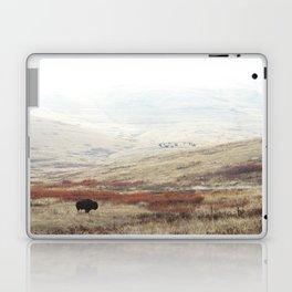 Lone Bison on National Bison Range in Montana Laptop & iPad Skin