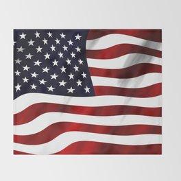 American Flag USA Throw Blanket