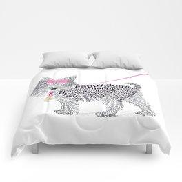 Typographic Yorkshire Terrier - Pink   #YorkshireTerrier #buyart Comforters