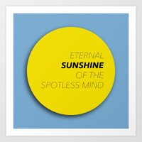 eternal sunshine of the spotless mind Art Prints featuring Eternal Sunshine of the Spotless Mind by kirstenariel
