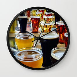 Craft Beers Wall Clock