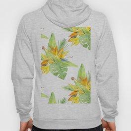 watercolor seamless pattern bird of paradise Hoody