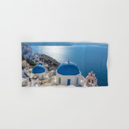 Santorini island in Greece Hand & Bath Towel