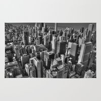 chicago Area & Throw Rugs featuring Chicago by Claude Gariepy