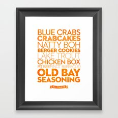 Baltimore — Delicious City Prints Framed Art Print