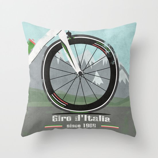 Giro d'Italia Bike Throw Pillow