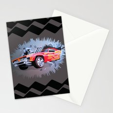 Hot Wheels Car Crashing Through Brown Wall Stationery Cards