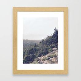 Midday Mountainside Framed Art Print