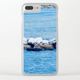 Port St. Joe Marina view 26a Clear iPhone Case