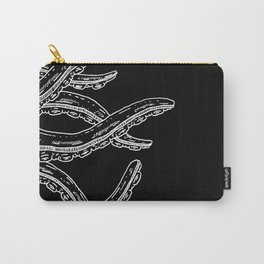 Woodcut Style Cthulhu Octopus Tentacles Sideways Carry-All Pouch