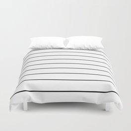 SKINNY STRIPE ((black on white)) Duvet Cover
