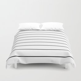 SKINNY STRIPE ((black on white)) Duvet Cover