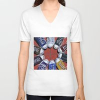 shoes V-neck T-shirts featuring Shoes by Giorgio Arcuri
