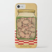 clueless iPhone & iPod Cases featuring Pickled Pig Revisited by Megs stuff...