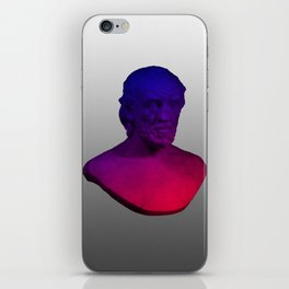 Victor Hugo Gradient Bust iPhone Skin