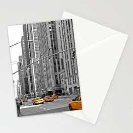 NYC - Yellow Cabs - Music Stationery Cards