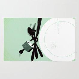 "Glue Network Print Series ""Hunger"" Rug"