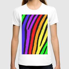 Rainbow Zebra Print T-shirt