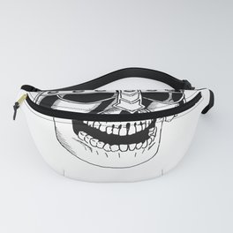 Viking skull with helmet Fanny Pack