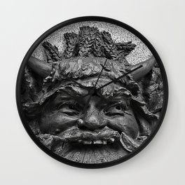 Mascaron Wall Clock