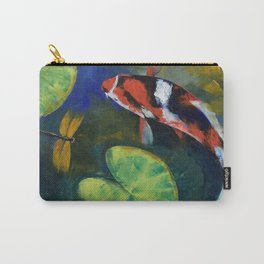 Showa Koi and Dragonfly Carry-All Pouch