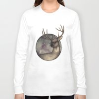 antlers Long Sleeve T-shirts featuring Antlers by Ericaphant