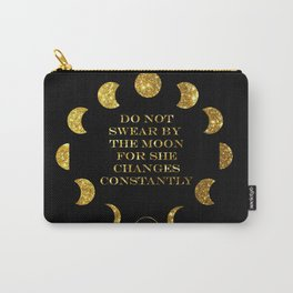 Moon Phases Gold Carry-All Pouch