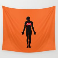 anatomy Wall Tapestries featuring Anatomy game by Tony Vazquez