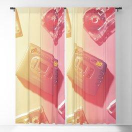 Walkman and Cassettes#vintage#film#effect Blackout Curtain