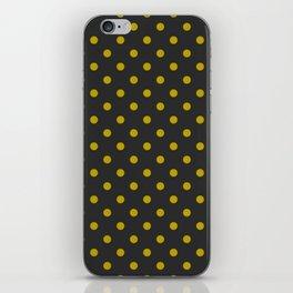 Black and Gold Polka Dots iPhone Skin