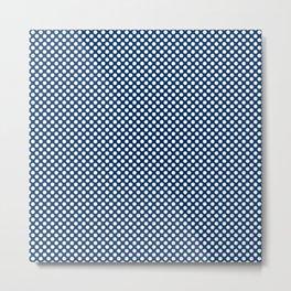 Cool Black and White Polka Dots Metal Print
