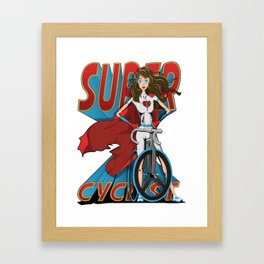 Super Cyclist Framed Art Print