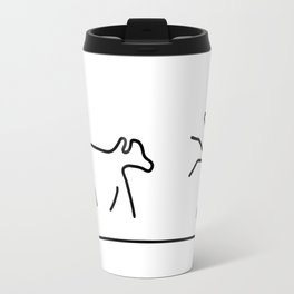 dogs play domestic animal Travel Mug