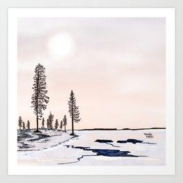 Departure of Ice - Lapland8Seasons Art Print