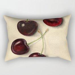 Vintage Illustration of Black Cherries Rectangular Pillow