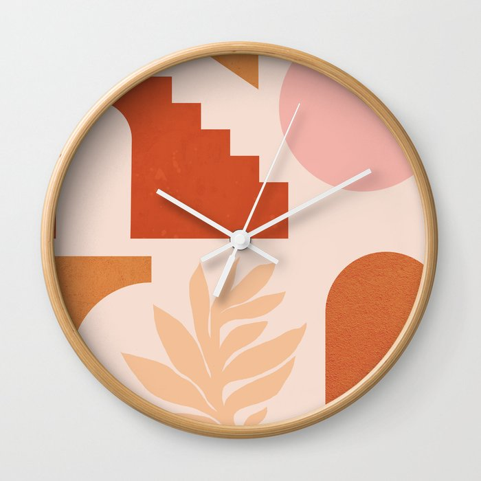 Abstraction_SHAPES_Architecture_Minimalism_002 Wall Clock