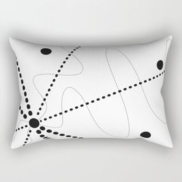 """""""Per aspera ad astra"""". Abstract composition based on the contrast of dots (black dots). Rectangular Pillow"""