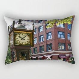 Gastown Steam Clock - Vancouver Rectangular Pillow