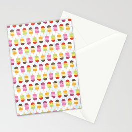 Kawaii Summer Ice Lollies / Popsicles Stationery Cards