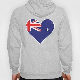 Australian Flag Heart Hoody