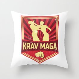 Krav Maga Propaganda | Martial Arts Self Defense Throw Pillow