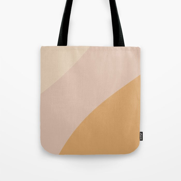 Warm Neutral Color Wave Tote Bag