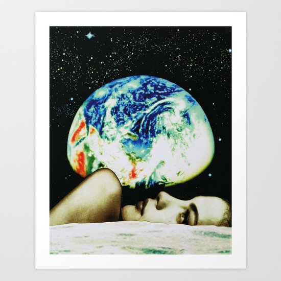 moon view Art Print