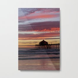 Huntington Beach Sunset  1/8/15   Metal Print