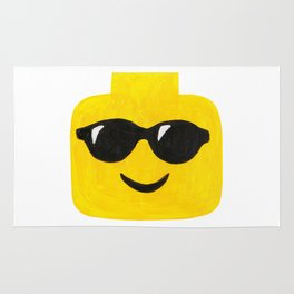 Sunglasses - Emoji Minifigure Painting Rug