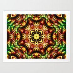 Kaleidoscope Mandala Art Print