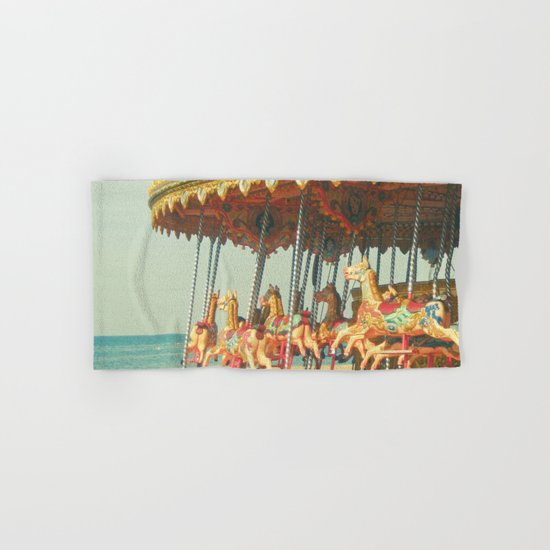 Seaside Carousel Hand & Bath Towel